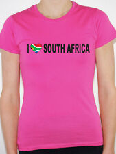 I LOVE SOUTH AFRICA WITH SOUTH AFRICAN FLAG IN A HEART SHAPE - Womens T-Shirt