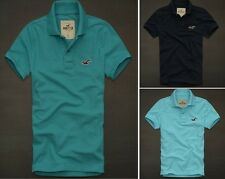 2012 Hollister by Abercrombie Men's Malibu Polo NWT New L XL Turquoise Navy Blue