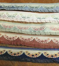 """VINTAGE NOVELTY 5/8"""" TRIM RUFFLE EDGE 1yd DOLLS Childs Made in France Gathered"""