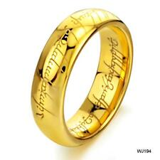 The Lord of the Ring Gold Tungsten Steel Men's Band Ring US Size 8, 9, 10 shine