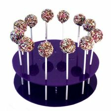 Round Purple Acrylic Cake Pop Stands for weddings, Parties & Occasions