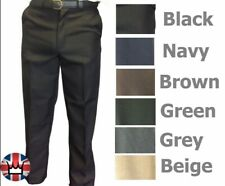 WWK Mens Trousers Formal Smart Pants Security Wear Work Clothing Big Sizes New