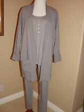 COTTONISTA-3PC FAWN GREY LOUNGE SET-LEGGINGS OR PANTS NWT SMALL,MED, LARGE $185