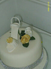 BIRTHDAY CAKE DECORATION LADIES SHOES IN BLACK OR IVORY TOPPER  18th  21st