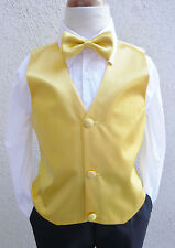 YELLOW SUNBEAM VEST WITH BOW TIE SET FOR BOYS TODDLER MEN FORMAL TUXEDO SUIT