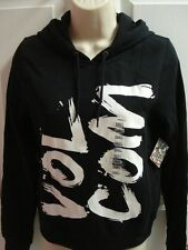 NWT-VOLCOM PULLOVER HOODIE-YOUTH/JUNIORS/BOYS/GIRLS-S/M/L/XL-BLACK/WHITE/PINK