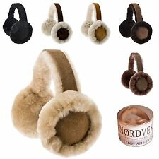 Nordvek Luxury Womens Genuine Sheepskin Earmuffs New BNWT  Gift Box 506-100