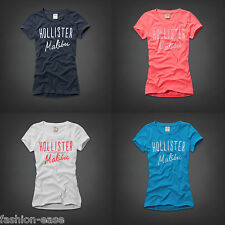 HOLLISTER By Abercrombie & fitch femme à encolure ras-du-cou à manches courtes t shirts