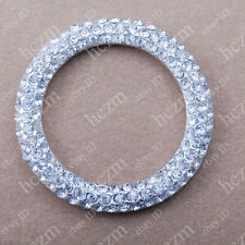 crystal rhinestones pave bead donut circle round findings jewelry making pendant
