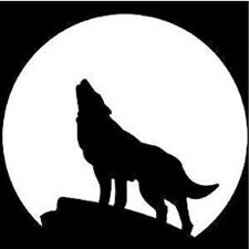 Wolf WithMoon Vinyl Wall Decal
