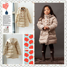 Boutique Very High Quality 90% Duck Down Winter Coat Light Weight Very Warm Gold