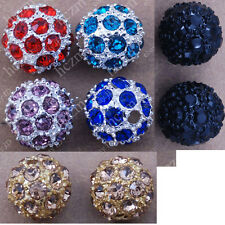 crystal rhinestone top quality round beads spacer 10mm findings fit bracelet DIY