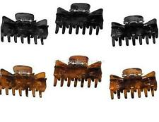 3 Black or Tort Butterfly Hair Clamps Grips Claws 4cm