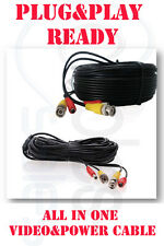 30FT CCTV CAMERA CABLE SURVEILLANCE CORD POWER SECURITY LOT Zmodo/Swann/Qsee B.