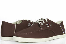 Lacoste Men's Shoes Lace Up Casual Sneakers Aristide 6 Dark Red New Authentic