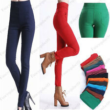 Slim Fit lady popular High Waist Pants Stretch Pencil Skinny Jeans Trousers 3785