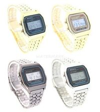 Classic Metal Watch Digital LCD Display Retro Style 80s Vintage Unisex Fashion