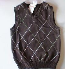 NWT GYMBOREE  EASTER CELEBRATIONS BROWN DIAMOND SWEATER VEST