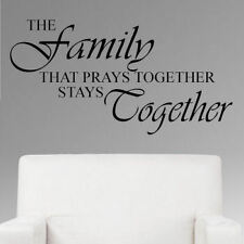 The Family that Prays Together Stays Together Vinyl Wall Quote Decal Quote