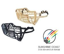 DOG / CANINE PLASTIC BASKET DOG MUZZLE 7 SZ TOY MINI SMALL MEDIUM LARGE XL GIANT