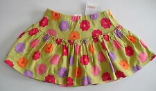 NWT GYMBOREE PRETTY POSIES GREEN FLORAL SKORT SKIRT SUMMER SPRING