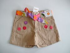 NWT GYMBOREE PRETTY POSIES KHAKI FLORAL BELTED SHORTS