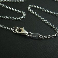 Sterling Silver 2mm Rolo Necklace Chain (All Sizes) 925 Italy