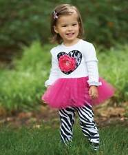 NWT Mud Pie WILD CHILD Zebra Tunic and Leggings Valentine 9 12 18 M