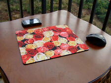 NEW ROSE PAD MOUSEPAD MICE MAT FOR OPTICAL LASER MOUSE - FREE SHIPPING TO USA