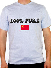 100% PURE CHINESE - China / Far East / Flag / Novelty Themed Mens T-Shirt