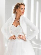 WEDDING / BRIDAL - FAUX FUR SHRUG / BOLERO / JACKET / COAT XS S M L XL XXL -B39