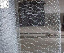 GALVANISED WIRE NETTING FENCING MESH AVIARY CHICKEN COOP RABBIT CAGE FARM FENCE