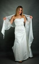 2 TONE SHIMMER ORGANZA WEDDING WRAP/EVENING/PROM/SHAWL/SHRUG/STOLE - ( 3 SIZES )