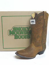 """Square Toe Leather Distressed Brown Ladies Smoky Mtn Boots 6724 """"Lariat"""" 6274"""