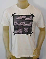 NWT URBAN OUTFITTER MENS SHORT SLEEVE GRAPHIC T-SHIRT IVORY SIZE: MEDIUM