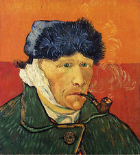 Photo/Poster - Self Portrait With Bandaged Ear And Pipe - Gogh Vincent Van 1853