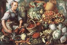 Art Print - Market Woman With Fruit Vegetables And Poultry - Joachim Beuckelaer