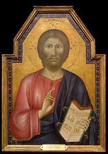 Art Photo Print - Christ Between St Peter And St James Major Center - Cimabue Gi