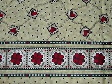 New Debbie Mumm Cotton Quilt Sewing Material For Helping Hands Red Hearts 1Y 29""