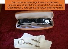 LED reading glasses for seamstress hobby craft USA seller comes with hard case