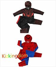 Brand New Spiderman / Spidermans 3ps Costume Dress Up Size 3,4,5,6,8