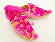Turkish Ottoman Harem Slipper, Handmade Palace Shoes, Henna Night Shoes, Pink