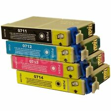 4 CiberDirect Replacements for Epson T0715 Printer Ink Cartridges - VAT Invoice