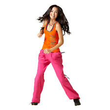 Authentic New Zumba LOGO Cargo Pants  Pink with Purple Waistband NWT S  XL
