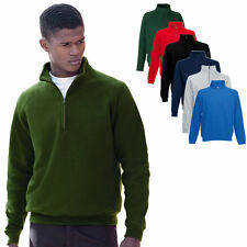 Fruit of the Loom Zip Neck Stehkragen Sweatshirt  I S M L XL XXL