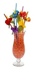 """2 1/2"""" Hibiscus Decorative Luau Beach Party Flower Drinking Mixed Drink Straws"""