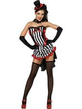 NEW Sexy Burlesque Madame Vamp Ladies Halloween Party Fancy Dress Costume Outfit