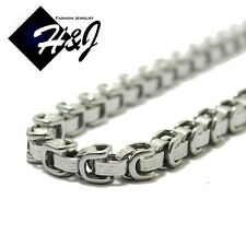 "18""--40""MEN's Stainless Steel 8x6mm Silver Greek Key Design Chain Necklace"