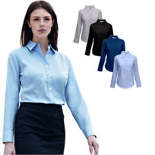 Fruit of the Loom Damen Langarm Bluse Freizeit-Business Oxford Shirt Hemd