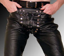 Lederhose schwarz, gay Lederjeans, gay pants black